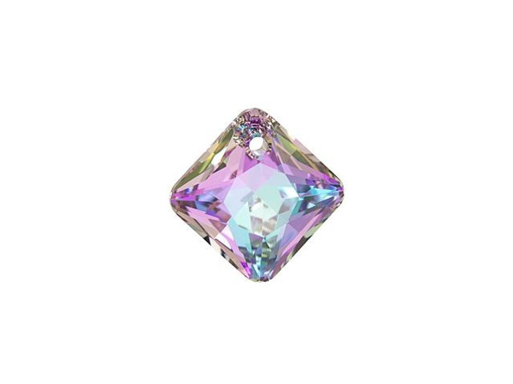 Swarovski 6431 12mm Princess Cut Pendant Crystal Vitrail Light