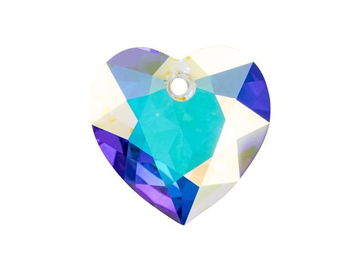Swarovski 6432 11mm Heart Cut Pendant Crystal AB