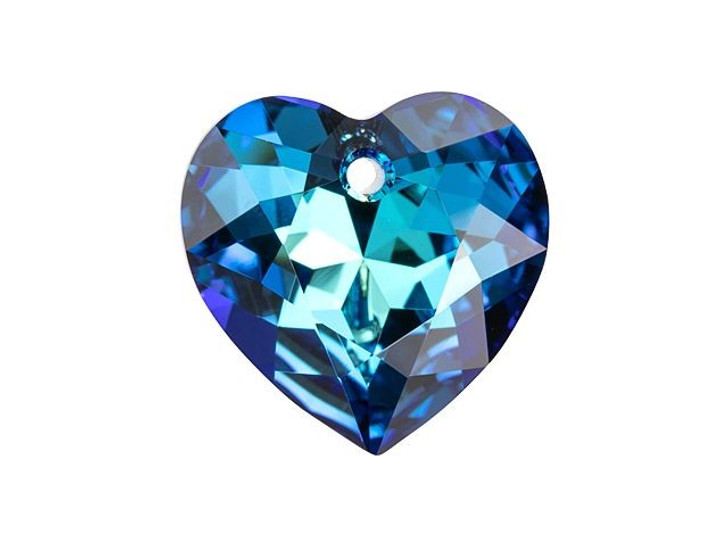 Swarovski 6432 11mm Heart Cut Pendant Crystal Bermuda Blue