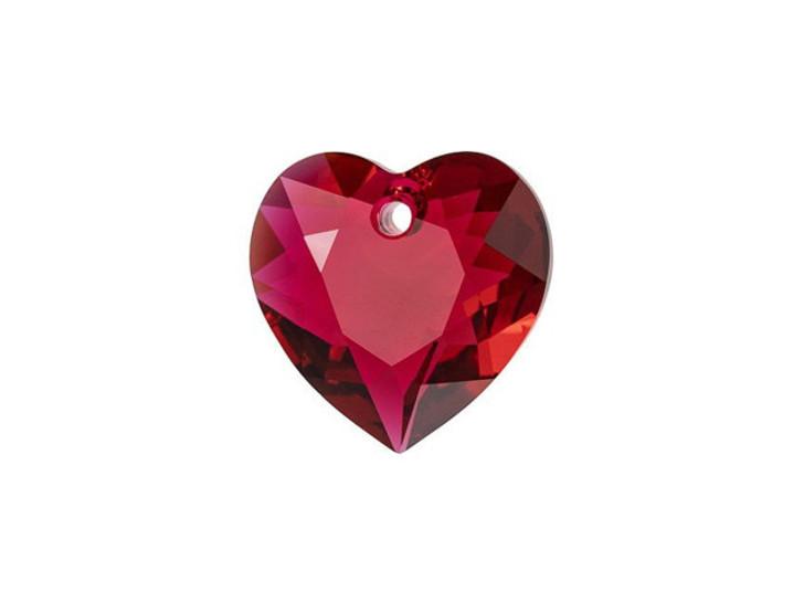 Swarovski 6432 11mm Heart Cut Pendant Scarlet