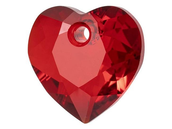 Swarovski 6432 11mm Heart Cut Pendant Siam