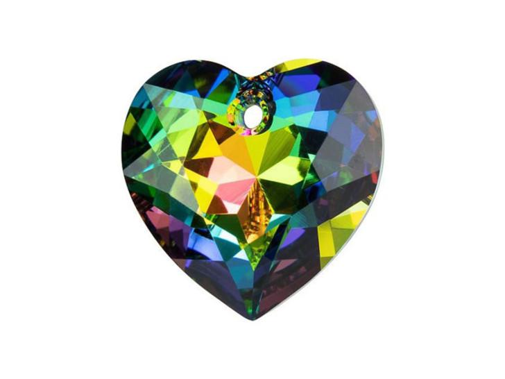 Swarovski 6432 15mm Heart Cut Pendant Crystal Vitrail Medium
