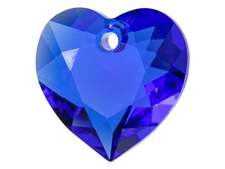 Swarovski 6432 15mm Heart Cut Pendant Majestic Blue