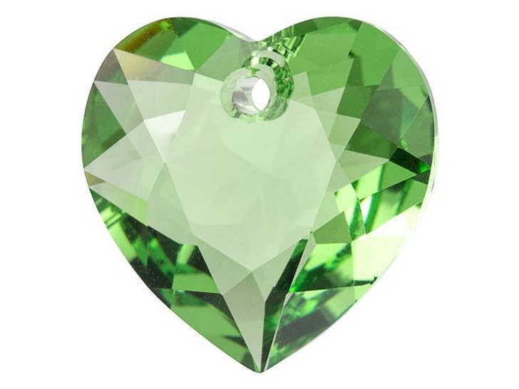 Swarovski 6432 15mm Heart Cut Pendant Peridot