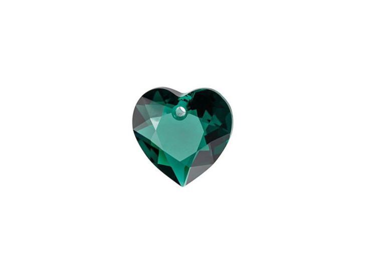 Swarovski 6432 8mm Heart Cut Pendant Emerald