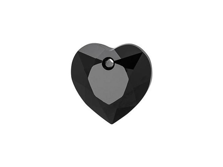 Swarovski 6432 8mm Heart Cut Pendant Jet