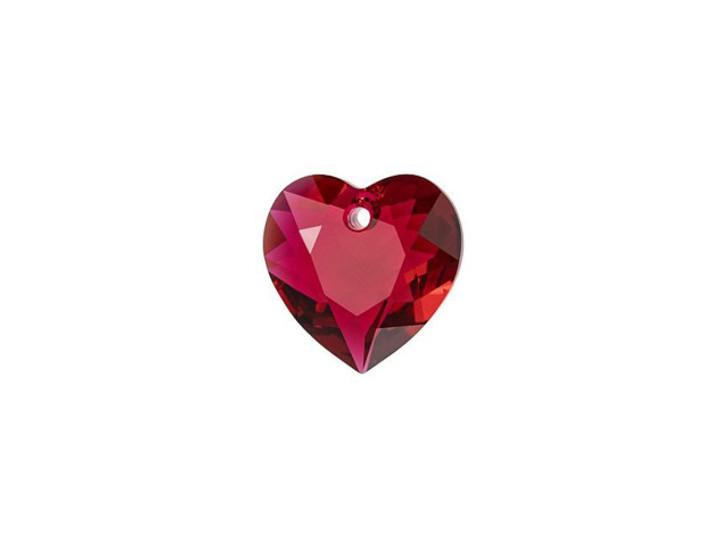 Swarovski 6432 8mm Heart Cut Pendant Scarlet