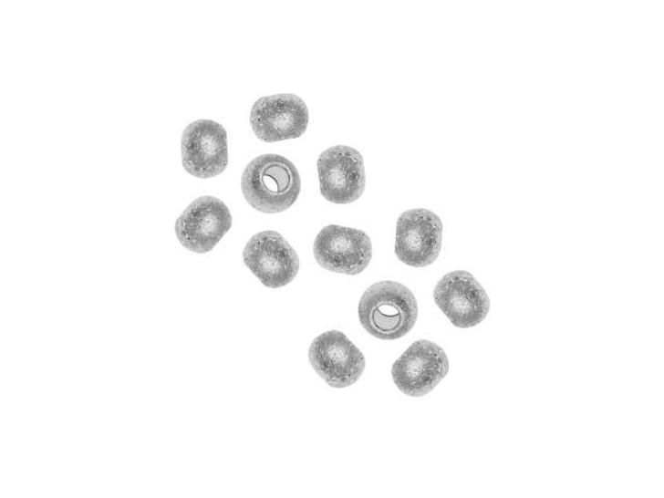 4mm Stainless Steel Stardust Round Bead