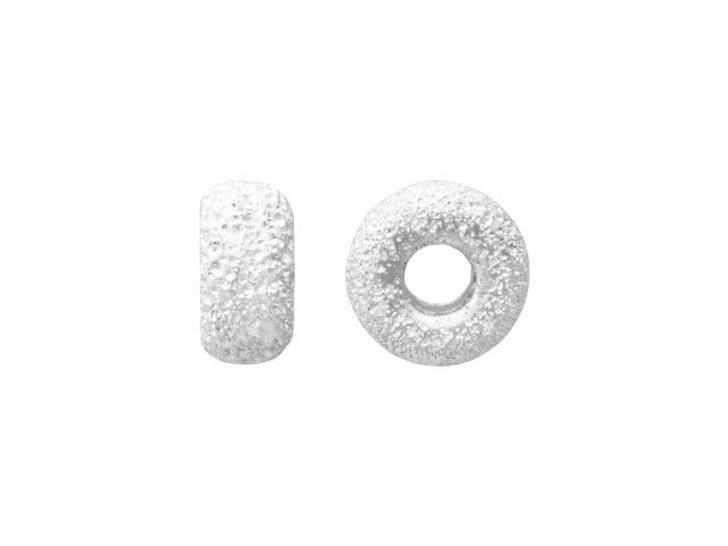 4mm Stardust (Laser Cut) Sterling Silver Roundel Bead