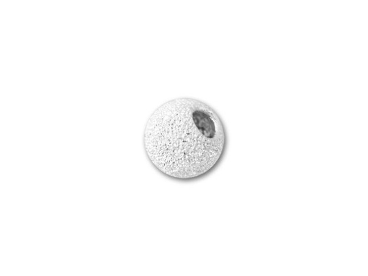 4mm Sterling Silver Round Stardust Bead with 1.5mm Hole