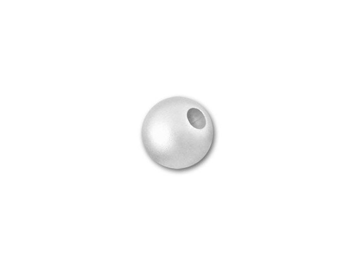 4mm Sterling Silver Seamless Round Bead (Matte/Satin)