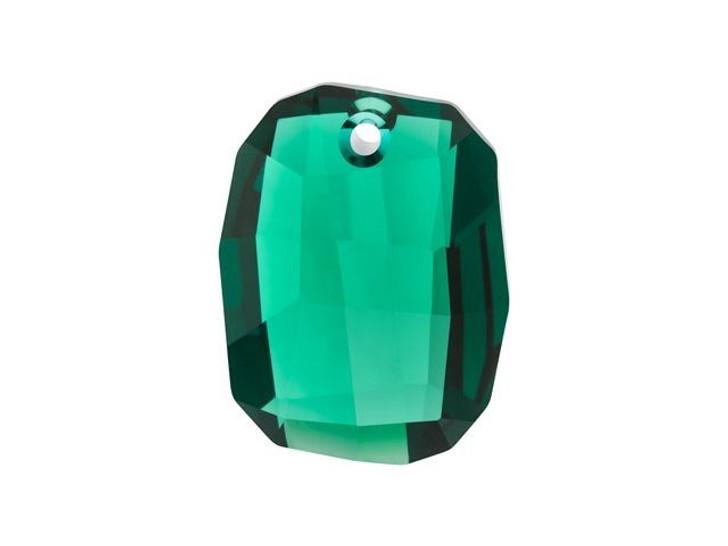 Swarovski 6685 28mm Graphic Pendant Emerald