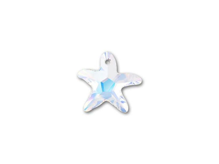Swarovski 6721 16mm Starfish Pendant Crystal AB