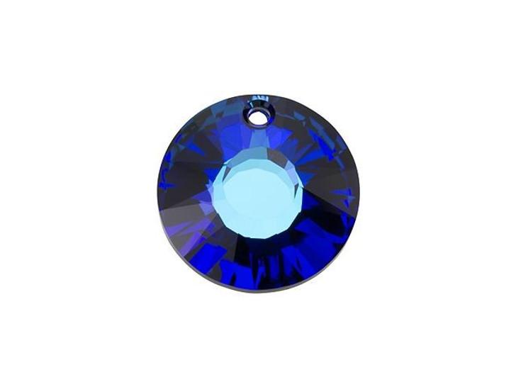 Swarovski 6724 19mm Sun Pendant Crystal Bermuda Blue