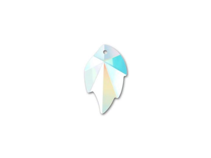Swarovski 6735 26mm Leaf Pendant Crystal AB