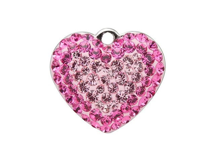 Swarovski 67412 14mm BeCharmed Pave Heart Pendant Light Rose, Rose