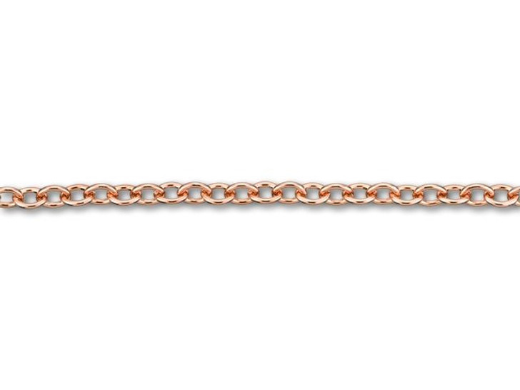 4x3mm Rose Gold-Plated Brass Cable Chain by the Foot