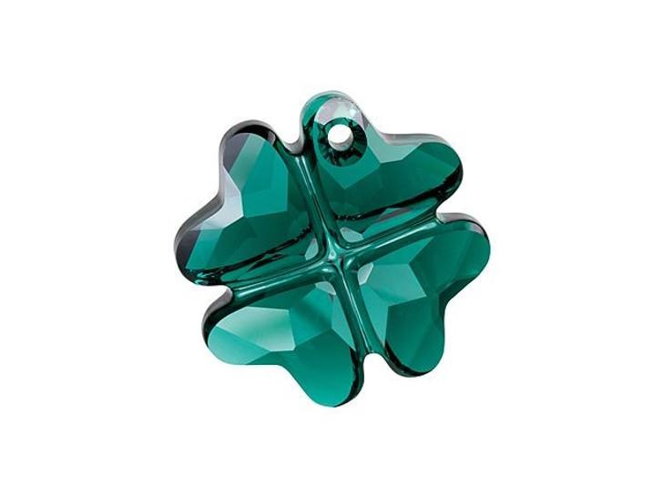 Swarovski 6764 19mm Clover Pendant Emerald