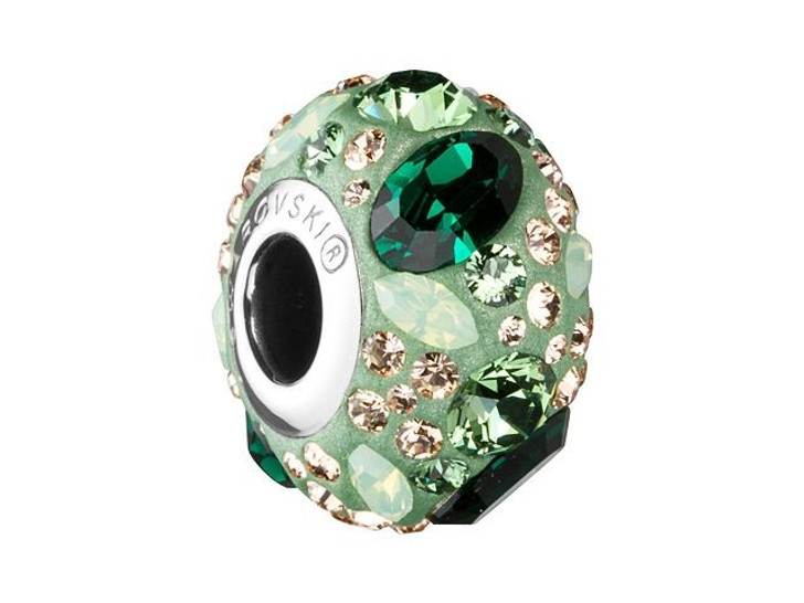 Swarovski 81304 14mm BeCharmed Pave Medleys Emerald, Chrysolite Opal, Light Peach, Erinite