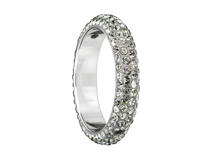 Swarovski 85001 16.5mm Crystal BeCharmed Pave Thread Rings - Two Holes Black Diamond