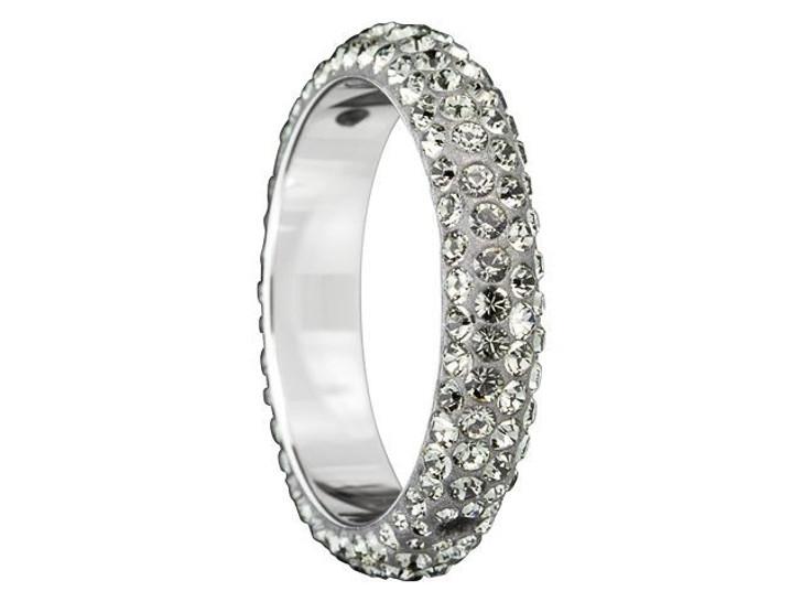 Swarovski 85001 18.5mm Crystal BeCharmed Pave Thread Rings - Two Holes Black Diamond