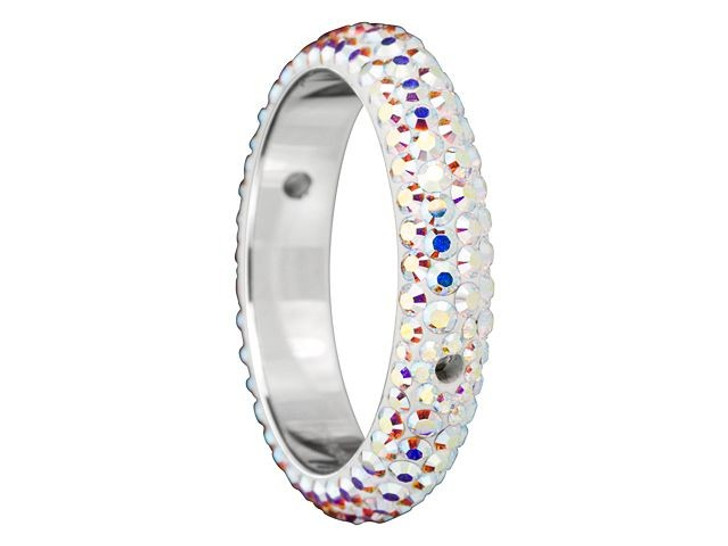 Swarovski 85001 18.5mm Crystal BeCharmed Pave Thread Rings - Two Holes Crystal AB