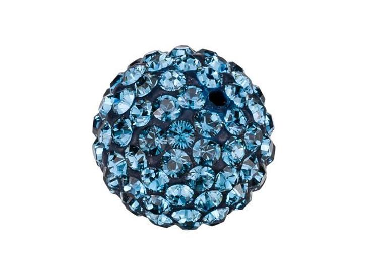 Swarovski 86001 10mm Pave Ball Bead Montana Sapphire
