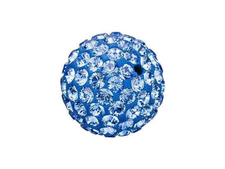 Swarovski 86001 10mm Pave Ball Bead Sapphire