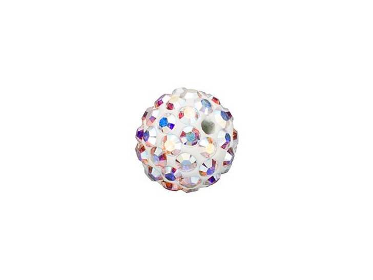 Swarovski 86001 6mm Pave Ball Bead Crystal AB