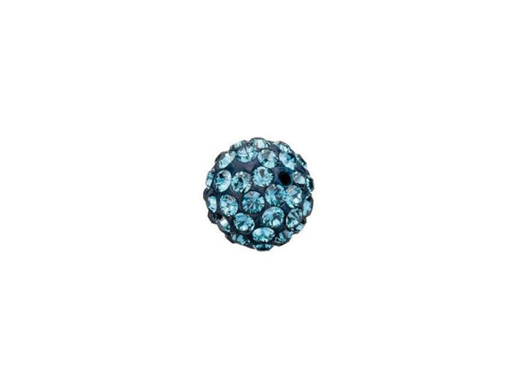 Swarovski 86001 6mm Pave Ball Bead Montana Sapphire