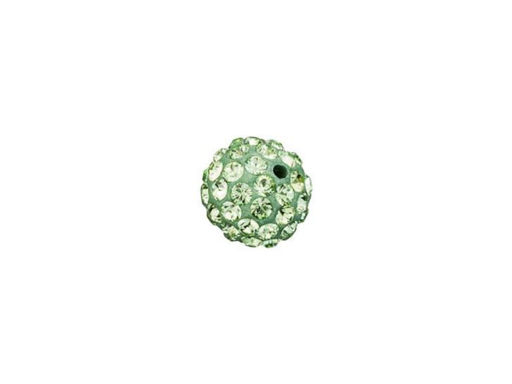 Swarovski 86001 6mm Pave Ball Bead Peridot