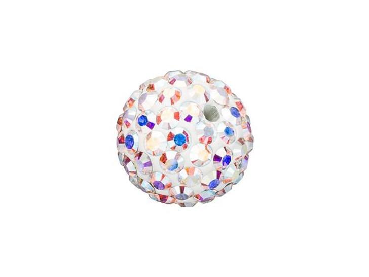 Swarovski 86001 8mm Pave Ball Bead Crystal AB