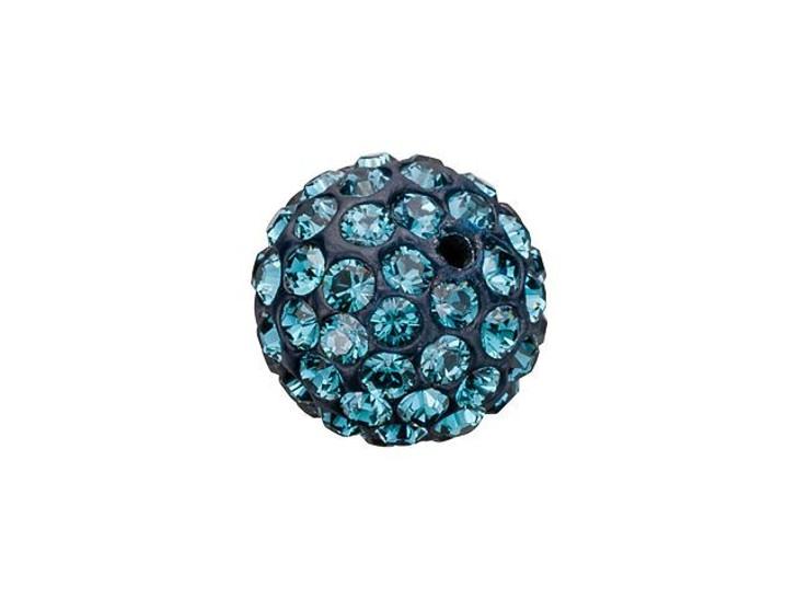 Swarovski 86001 8mm Pave Ball Bead Montana Sapphire