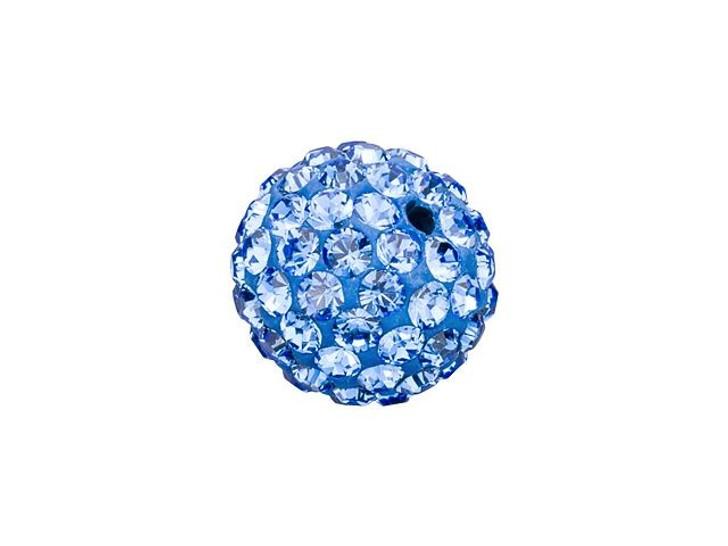 Swarovski 86001 8mm Pave Ball Bead Sapphire