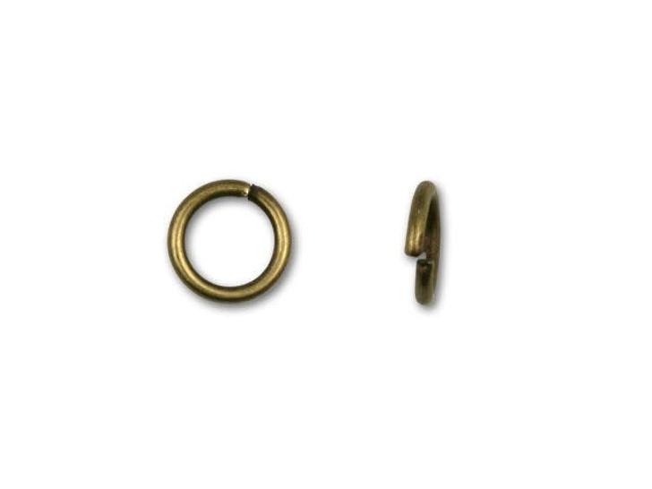 5.5mm Antique Brass-Plated 21 Gauge Open Jump Ring