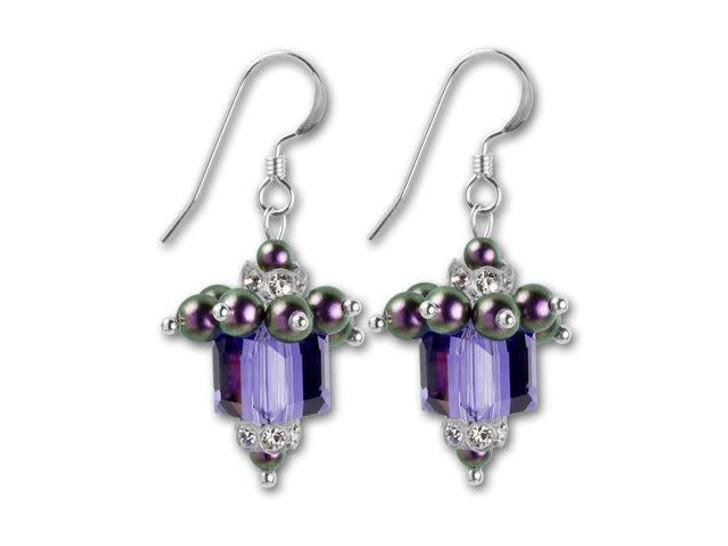Swarovski Glitzy Glam Gift Earrings Kit - Artbeads Birthday Purple