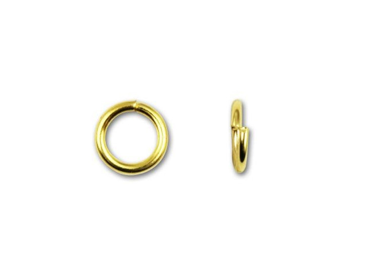 5.5mm Gold-Plated 21 Gauge Open Jump Ring