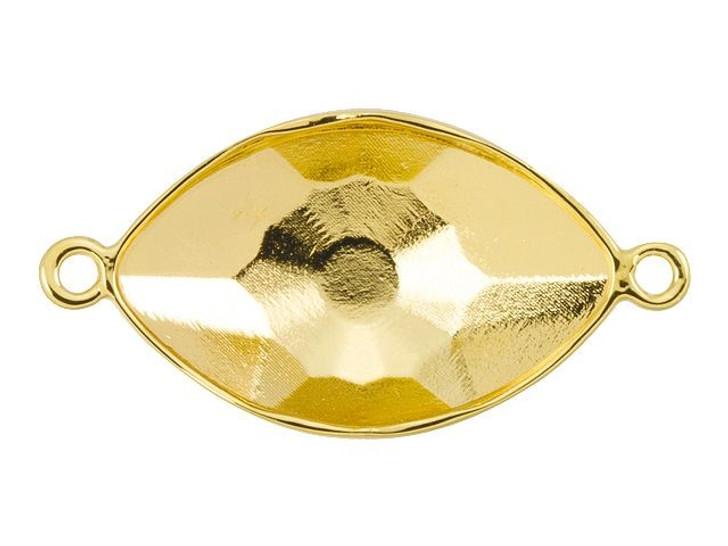 Swarovski Gold-Plated Link Setting for 4775 18mm Eye Fancy Stone