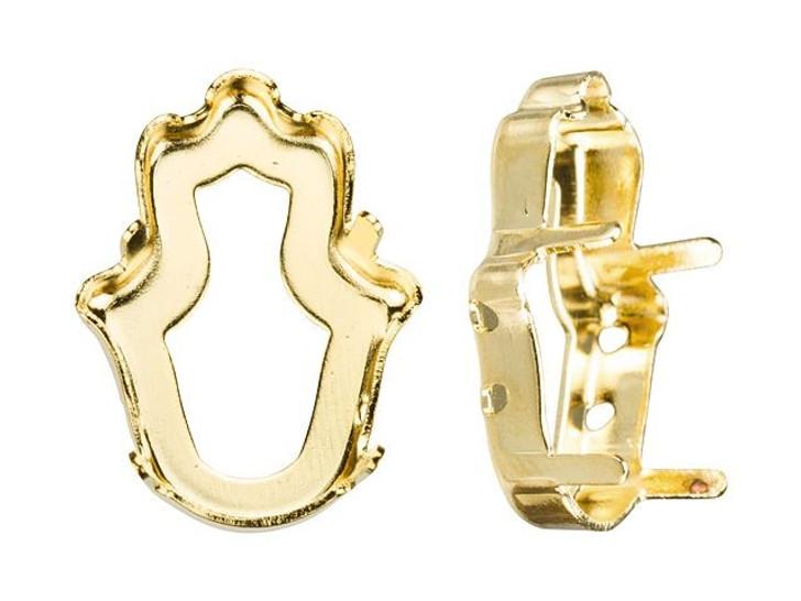 Swarovski Gold-Plated Setting for 4778 18x13.7mm Fancy Fatima Hand