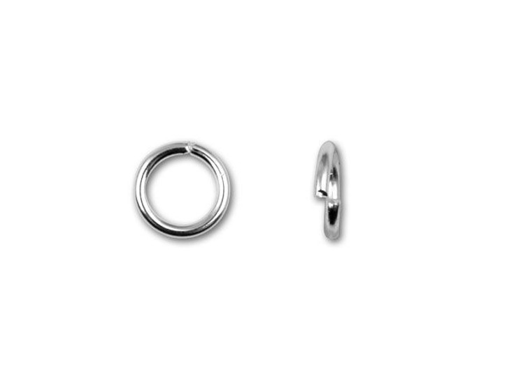 5.5mm Silver-Plated 21 Gauge Open Jump Ring