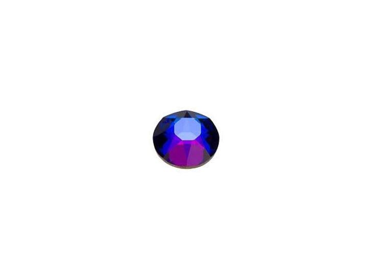 Swarovski H2078 SS12 Hotfix Xirius Rose Flatback Crystal Meridian Blue