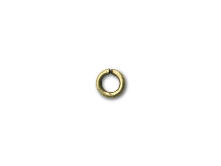 5mm Antique Brass-Plated Open Jump Ring