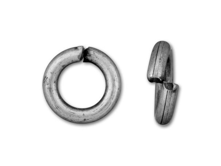 5mm Antique Silver-Plated Open Jump Ring - 18 Gauge