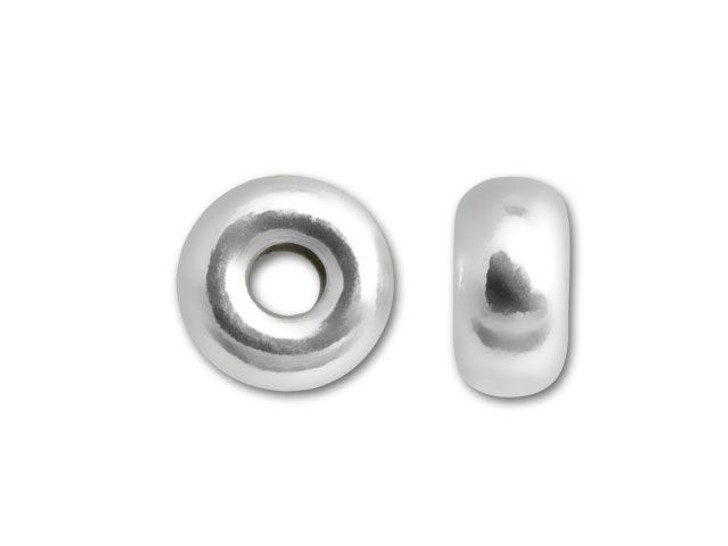 5mm Bright Sterling Silver Roundel Bead