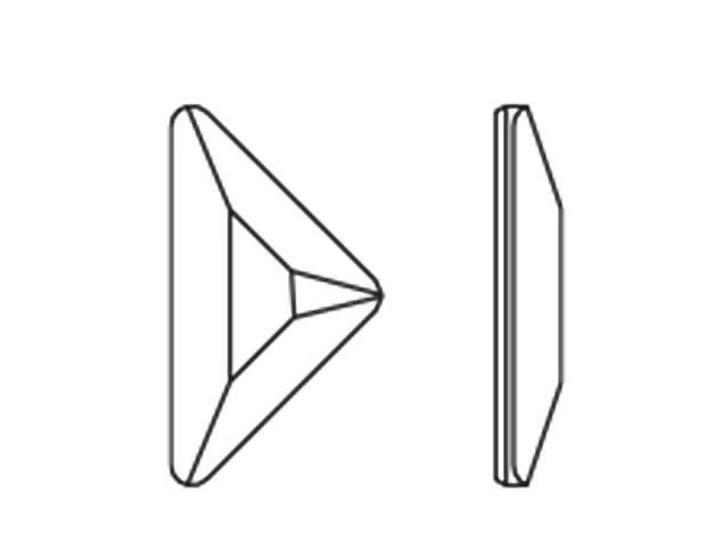Swarovski H2740 8.3x8.3mm Hotfix Triangle Gamma Flatback Crystal AB
