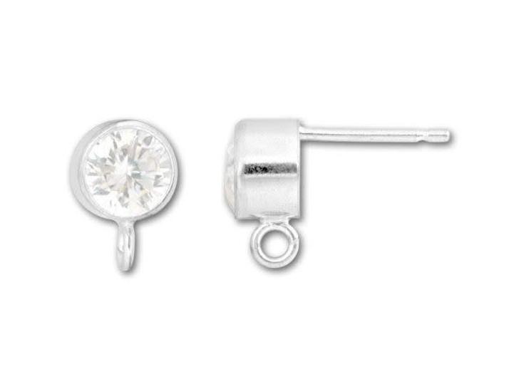 5mm Cubic Zirconia Post Earring (Pair)