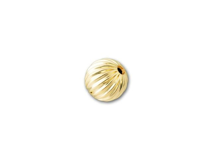 5mm Gold-Filled Round Corrugated Bead