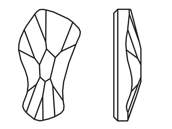 Swarovski H2798 14mm Hotfix Contour Flatback Crystal