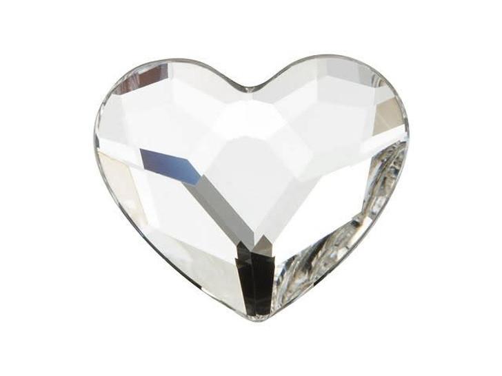 Swarovski H2808 14mm Hotfix Heart Flatback Crystal