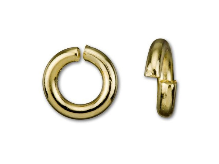 5mm Gold-Plated Open Jump Ring - 18 Gauge